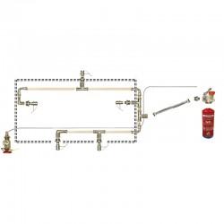 Sistema de extinción de incendios en campanas extractoras de 200 cm